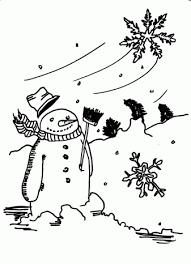 Sneeuwpop Kleurplaten