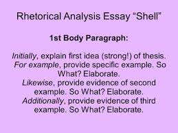 "rhetorical analysis essay ""shell"" ppt video online  rhetorical analysis essay shell"