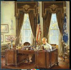 oval office picture. Franklin D. Roosevelt At His Desk In The Oval Office - White House Historical Association Picture W