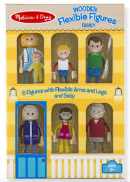 melissa doug wooden flexible figures family