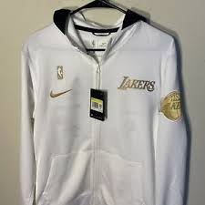 Men's nike nba pullover hoodie. Los Angeles Lakers Nike Ring Trophy Warm Up Hoodie Championship Jacket Champs Qs Ebay