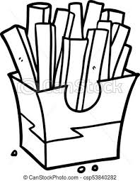 fast food clipart black and white. Contemporary White Line Drawing Of A Junk Food Fries  Csp53840282 To Fast Food Clipart Black And White