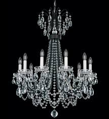 black crystal lighting. Schonbek - LU0003N-59H Lucia 10 Light Ferro Black Crystal Chandelier Undefined Lighting