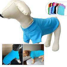 Lovelonglong 2019 Pet Clothing Costumes Puppy Dog Clothes Blank T Shirt Tee Shirts For Large Medium Small Dogs 100 Cotton 18 Colors