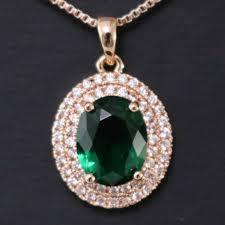 gorgeous vintage green emerald diamond