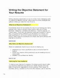Resume Objective For Career Change New Resume Luxury Career Change