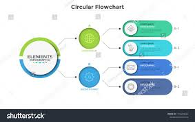 Modern Flow Chart Design Workflow Diagram Or Flowchart With Connected Colorful