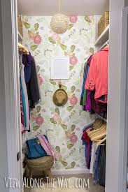 one of my all time favourite small walk in closet makeovers is the colourful girly glam closet by kelly from via view along the way i still swoon over