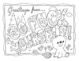 Make Your Own Coloring Pages With Words Of Action Book Swear