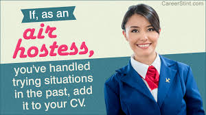 Resume Air Hostess Air Hostess Resume Sample