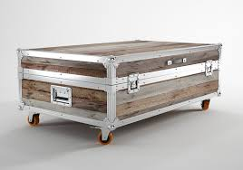 aluminum trunk coffee table