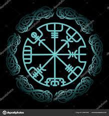 Vegvisir Magic Navigační Kompas Islandský Vikingů Skandinávské