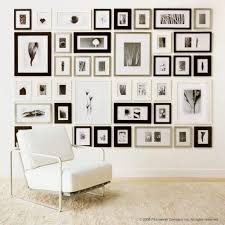 Collage Design On Wall Black 1 Inch Perfect Picturewall Gallery Frame Set W
