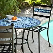 nice looking outdoor cafe table and chairs patio bistro set luxury c coast marina mosaic