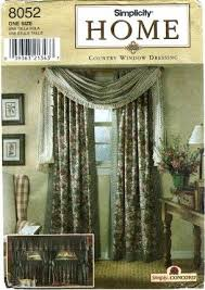 Curtain Sewing Patterns Cool Amazon Simplicity 48 Home Decor Sewing Pattern Window