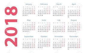 Calendar For 2018 Starts Monday Vector Calendar Design 2018