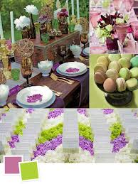 Purple and green wedding colors Pink Amethyst And Acid Green Wedding Colors The Knot 10 New Color Combos Youll Love