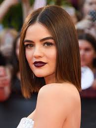 p on sunday lucy hale made us swoon with the plum pout she