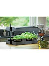 Herb Kitchen Garden Kit Indoor Herb Garden Kit My Greens Light Garden Gardeners Supply