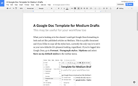 Google Doc Format A Google Docs Template For Medium Writers 15 Minutes In The Morning