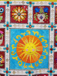 AQS QuiltWeek, Des Moines Quilt Show (1) | Dragonfly Quilts Blog & She uses vibrant colors in this quilt, beautifully combining applique,  piecing and free motion embroidery. The quilting is exquisite and all done  on ... Adamdwight.com
