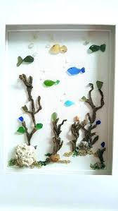 sea glass ornaments nautical decorating ideas sea glass ornaments best images on art decor framed bathroom sea glass
