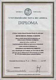 diploma  example of a diploma from a portuguese university in a4 size paper