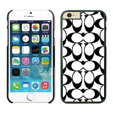 Coach Big Logo Black White iPhone 6 Cases EZD