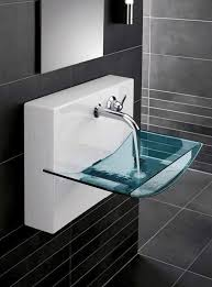 designer floating glass sink projects to try sinks stylish and glass