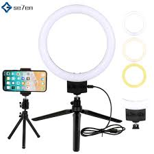 Ring Light Tripod For Iphone 7inch Selfie Led Ring Light With Mini Tripod Stand Phone