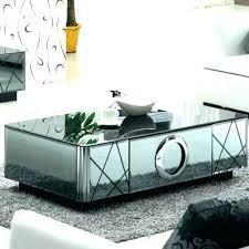 mirror top coffee table mirrored coffee table wonderful glass top mirror top metal accent