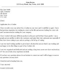 experience as a cashier cashier cover letter example icover org uk