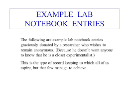 Lab Notebook Example Keeping A Lab Notebook W Wilson Department Of Engineering Physics