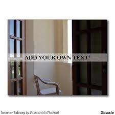 Interior Design Postcards Interior Balcony Postcard Zazzle Com Interior Balcony