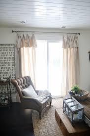 diy no sew drop cloth curtains the est easiest diy curtains ever
