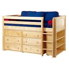 maxtrix kids furniture twin or full size box 2 and large 1 low loft bed in white natural or chestnut finish â twin or full size maxtrix kids and low