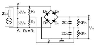 general circuit diagram of the bridge rectifier a full wave bridge general circuit diagram of the bridge rectifier a full wave bridge rectifier b full wave bridge rectifier adding centre taps the input impedance is