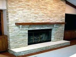 stone tile fireplace surround stacked photo cool for faux firep modern fireplace tile