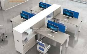 office work table. New Design Modern 6 Person Seats FSC Forest Certified Approved By SGS Office Workstation For Green Work Station System Combination Partition (H50 Table