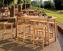 wood patio bar set. Image Of: Outdoor Bar Furniture Teak Wood Patio Set