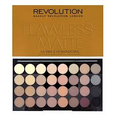 revolution ultra 32 shade eyeshadow palette flawless matte to view a larger image