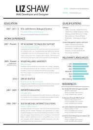 Skill Resume Web Design Resumes Template Example Resume For Web