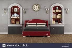 Vintage Schlafzimmer Mit Klassischen Doppelbett Nische Und Retro