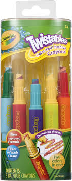 Crayola Twistables Bathtub Crayons - 5 CT - Walmart.com