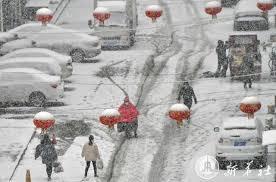 หิมะโปรยปราย ห่มคลุมหลายเมืองในซานตง