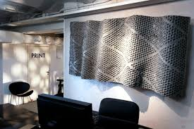 futuristic office furniture. futuristic office furniture with metal wall panels 3d e
