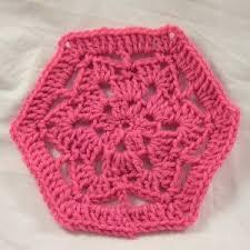Hexagon Crochet Pattern Best Scrap Savers Hexagon Motif AllFreeCrochet