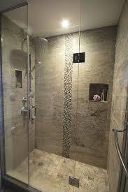 Stand up shower, rain shower head, spa. I would add a seat, frost the  glass, and extend the door to the ceiling to create a steam shower