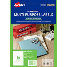 Avery Holiday Label Avery 959024 L7674 Video Spine Label Laser White Pack 400
