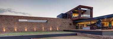 garden stone wall lighting luxurious modern residence in pretoria south africa